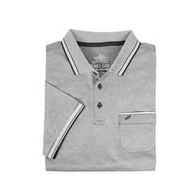 Herren-Poloshirt, grau, Gr.M