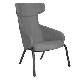 "*NEU*: Lounge-Sessel ""Stan"" aus Aluminium, silbergrau"
