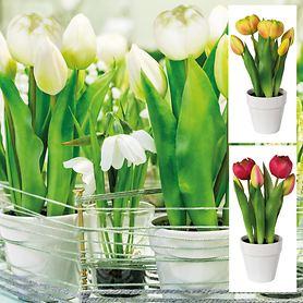 Kunstblumentopf Tulpen