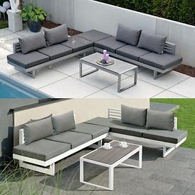 Lounge-Gartenmöbel aus pulverbeschichtetem Aluminium
