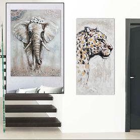 Bilder Elefant und Leopard