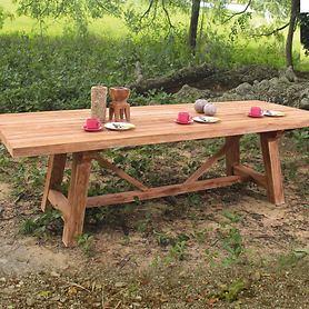 Teakholz-Tische aus recyceltem Teakholz