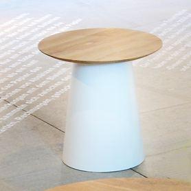 Beistelltisch 'feel' weiß/ eiche H 38 x D 80 cm