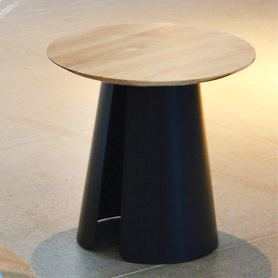 Beistelltisch 'feel' schwarz/ eiche H 38 x D 80 cm