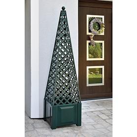 Pflanzsäule Obelisk grün