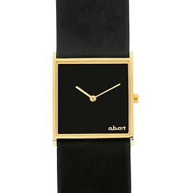 armbanduhr-square-schwarz-gold