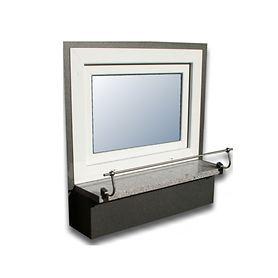 Blumenkasten-Halterung 110 cm, Edelstahl f. Stein Fenster- bänke, Montage ohne Bohren