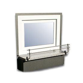 Blumenkasten Doppel-Halterung 110 cm, für Stein-Fensterbänke Montage ohne Bohren