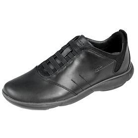 Leder-Sneaker schwarz Gr.40
