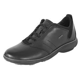Leder-Sneaker schwarz Gr.42
