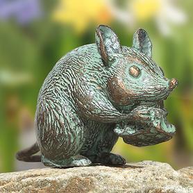 bronze-skulptur-maus-mit-kase-