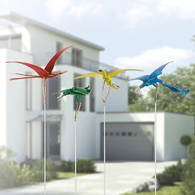 Vogel-Skulpturen auf Stab