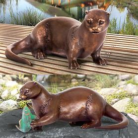 Skulpturen Fischotter