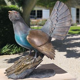 Skulptur Auerhahn
