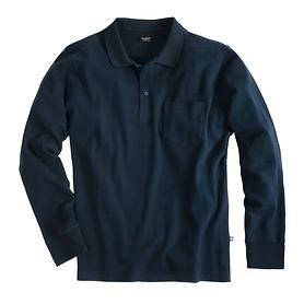 Langarm-Poloshirt bugatti dunkelblau Gr. M