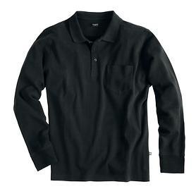 Langarm-Poloshirt bugatti schwarz Gr. XL
