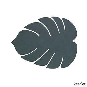 Platz-Set Leaf 2er-Set dunkelgrün