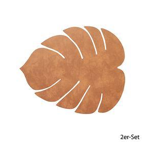 Platz-Set Leaf 2er-Set natur