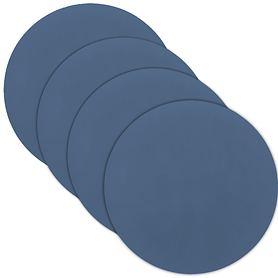 Glasuntersetzer 4er-Set tableMAT rund dunkelblau