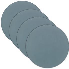 Glasuntersetzer tableMAT 4er-Set hellblau rund