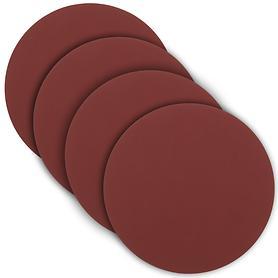 Glasuntersetzer tableMAT 4er-Set rot rund