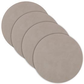 Glasuntersetzer tableMAT 4er-Set hellgrau rund