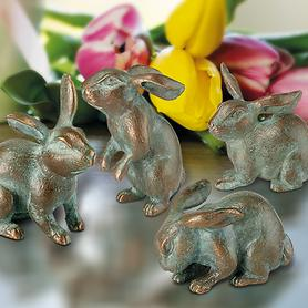 Skulpturen-4er-Set Hasen