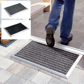 Fußmatte mit Edelstahl- oder Alurahmen