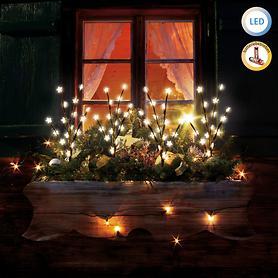 LED-Leuchtstäbe Sterne 4er-Set