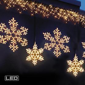 Jumbo-LED-Schneeflocken, warm-weiß