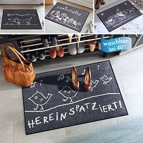 Waschbare Fußmatten mit originellen Gute-Laune-Motiven