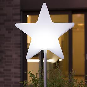 LED-Sternlampe mit Erdspieß