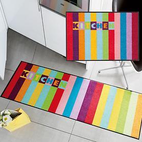 Waschbarer Teppichläufer und Fußmatte City Kitchen