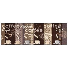 Waschbarer Teppichläufer Kaffeehaus