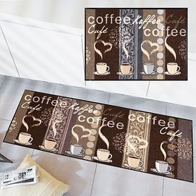 Waschbarer Teppichläufer und Fußmatte Kaffeehaus
