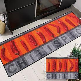 Waschbarer Teppichläufer & Fußmatte Chilli