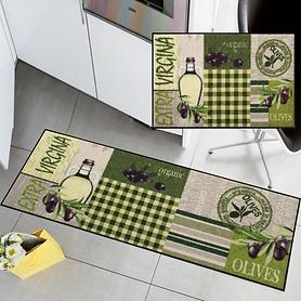 Waschbarer Teppichläufer und Fußmatte Olivia Patch