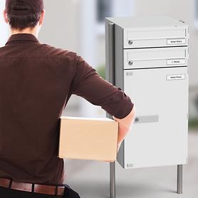 Paketbriefkästen mit und ohne Briefkastenfach