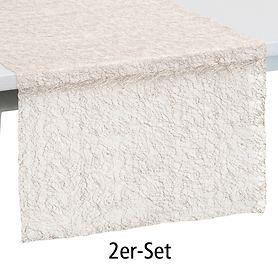 Gedeckläufer Veneto sand 2er-Set