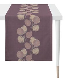 Tischläufer Blätter beere 48x140