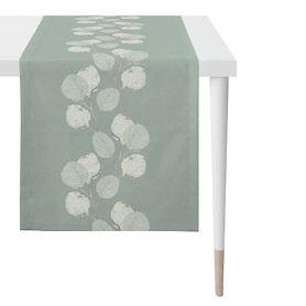 Tischläufer Blätter türkis 48x140