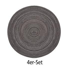 Tischset Samba graphit 4er-Set