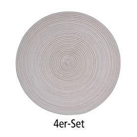 Tischset Samba kiesel 4er-Set