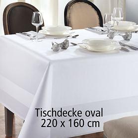 Tischdecke Atlas oval 220x160