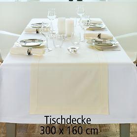 Tischdecke Gent weiß 300x160