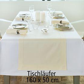 Tischläufe Gent weiß 160x50