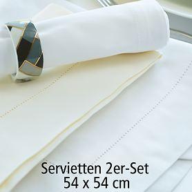 Servietten Gent 2er-Set weiß 50x50