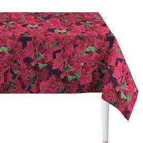 Tischdecke Weihnachtsstern rot 250x150