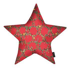 Stern-Kissen Weihnachtskranz rot 44x44