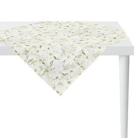 Tischdecke Weihnachtsstern weiß 100x100